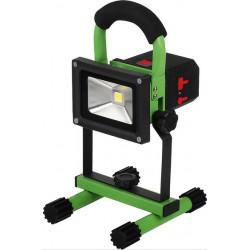Projecteur LED d'atelier 10W avec accu BRER