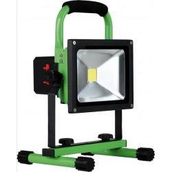 Projecteur LED d'atelier 20W avec accu BRER