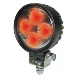 High-Power Proj. de travail LED Rouge 12/24V