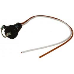 Prise 2 pôles avec capuchon à vis avec câble