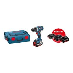 Professional Set GSR 18 V-EC + 1 x 6,0 Ah, 1 x 4,0 Ah, 1 x 2,0 Ah +chargeur+ L-BOXX Gr.2