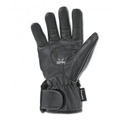Gants Cordura hiver cuir/textile noir