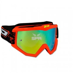 Lunettes cross Pro Grip orange-rouge étamée