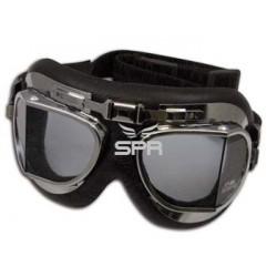 lunettes rétro air force clair, chrom