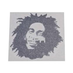 autocollant Bob Marley (11.6x11.4cm)