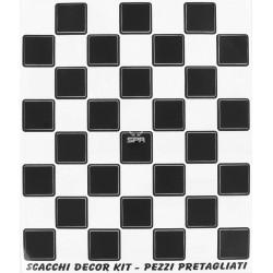 Autocollant damier noir/blanc 20x22cm