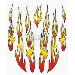 Autocollant de casque flamme (20x24cm)