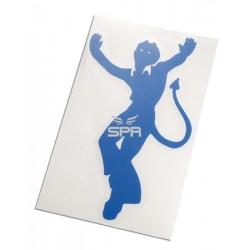 autocollant devil bleu (12cm)