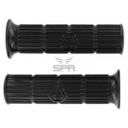 Poignées caoutchouc noires Vespa PX, PE (24/24mm)