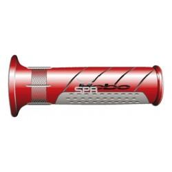 Poignées Hebo Enduro rouge/gris