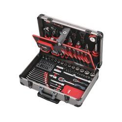JET-TOOLS boîte à outils en alu 147 pces, avec chariot
