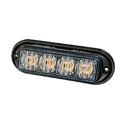 Feux à éclats jaune 12/24V 4 HighPower LEDs
