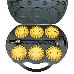 Set-Valise avec 6 LED feu d'avertissements jaune