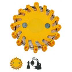 Feu d'avertissement LED jaune accumulateur