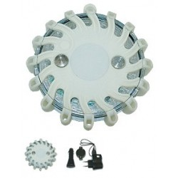 Feu d'avertissement LED blanc accumulateur