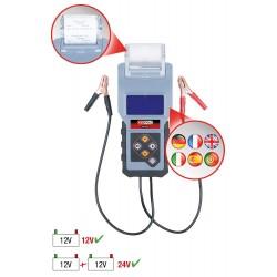Testeur de système de chargement et de batterie numérique 12 V avec imprimante intégrée , KSTOOLS