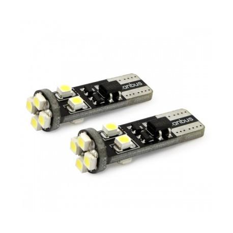 W5W T10 canbus avec 8 LED 6000K