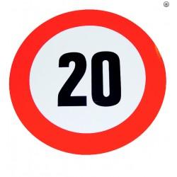 Plaque limitation de vitesse 20km/h
