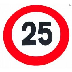 Plaque limitation de vitesse 25km/h