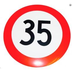 Plaque limitation de vitesse 35km/h