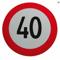 Plaque limitation de vitesse 40km/h