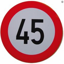 Plaque limitation de vitesse 45km/h