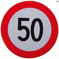 Plaque limitation de vitesse 50km/h