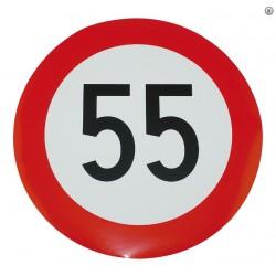 Plaque limitation de vitesse 55km/h