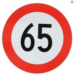 Plaque limitation de vitesse 65km/h