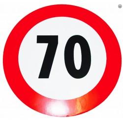 Plaque limitation de vitesse 70km/h