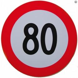 Plaque limitation de vitesse 80km/h
