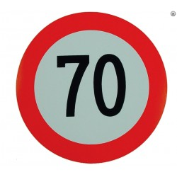 Plaque limitation de vitesse 70km/h
