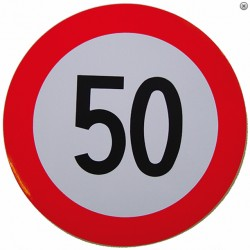 Plaque limitation de vitesse 50km/h