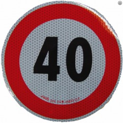 Plaque limitation de vitesse 40km/h