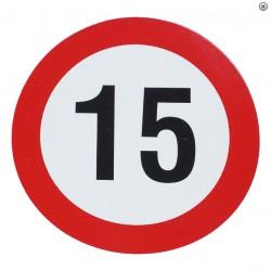 Plaque limite de vélocité 15km/h