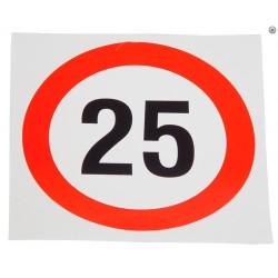 Plaque limite de vélocité 25km/h