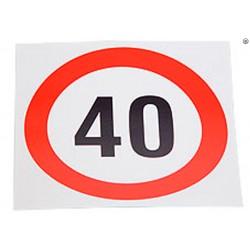 Plaque limite de vélocité 40km/h
