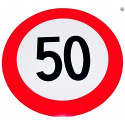 Plaque limite de vélocité 50km/h