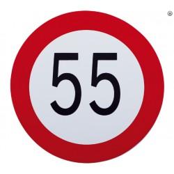 Plaque limite de vélocité 55km/h