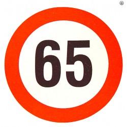 Plaque limite de vélocité 65km/h