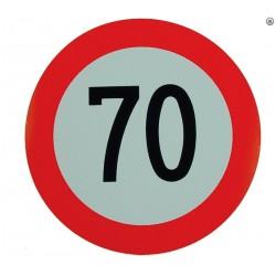 Plaque limite de vélocité 70km/h