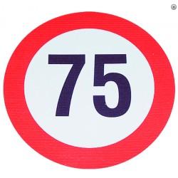 Plaque limite de vélocité 75km/h