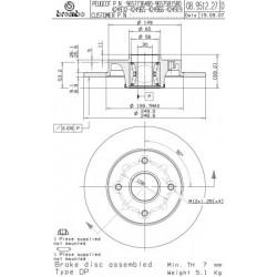 Disque de frein vernis BREMBO(08.9512.27)