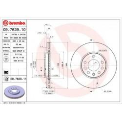 Disque de frein vernis BREMBO(09.5843.31)