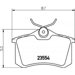 Kit de 4 Plaquettes de Frein TEXTAR (2355406)