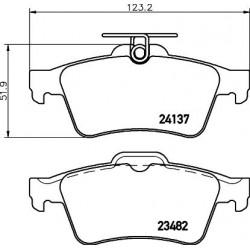 Kit de 4 Plaquettes de Frein TEXTAR (2413701)