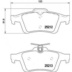 Kit de 4 Plaquettes de Frein TEXTAR (2521201)
