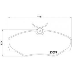 Kit de 4 Plaquettes de Frein TEXTAR (2309902)