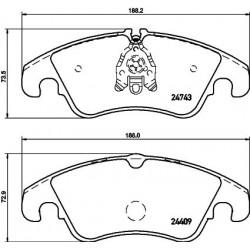 Kit de 4 Plaquettes de Frein TEXTAR (2474301)
