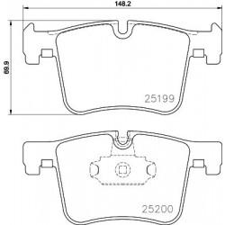 Kit de 4 Plaquettes de Frein TEXTAR (2519901)